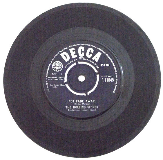 The Rolling Stones Single Not Fade Away & Little By Little Decca F.11845 1964