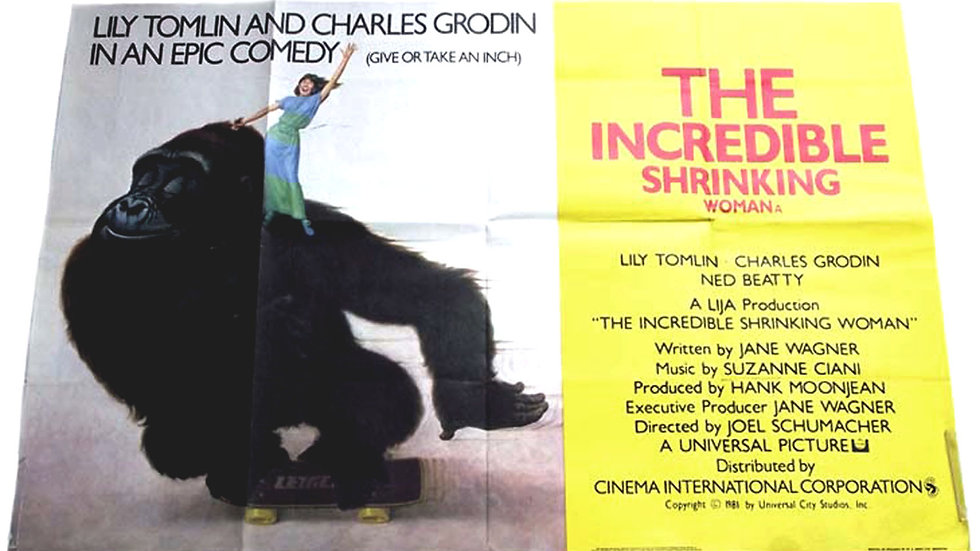 The Incredible Shrinking Woman British Quad Film Poster 1981