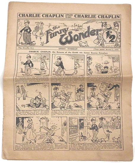 Charlie Chaplin The Funny Wonder August 7 1915