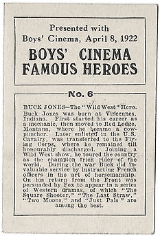 Boys-Cinema-Famous-Heroes-Card-No-6-Buck