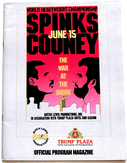 Michael Spinks vs Gerry Cooney U.S. Boxing Programme 1987