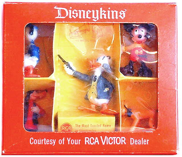 Walt Disney Disneykins Marx Figures for RCA Victor 1961