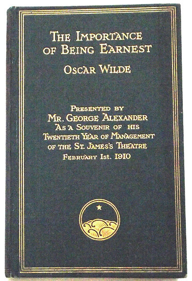 The Importance of Being Earnest Special Limited Edition 1910