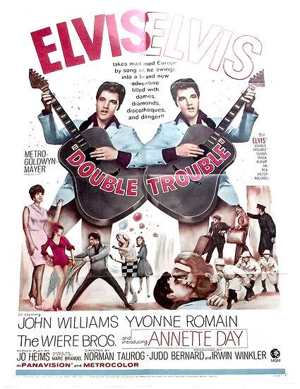 Elvis Presley Double Trouble U.S. Film Poster 1967