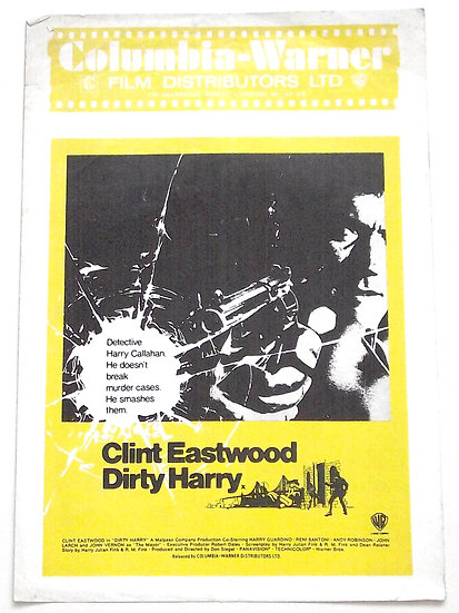 Clint Eastwood Dirty Harry UK Columbia-Warner Campaign Book 1971