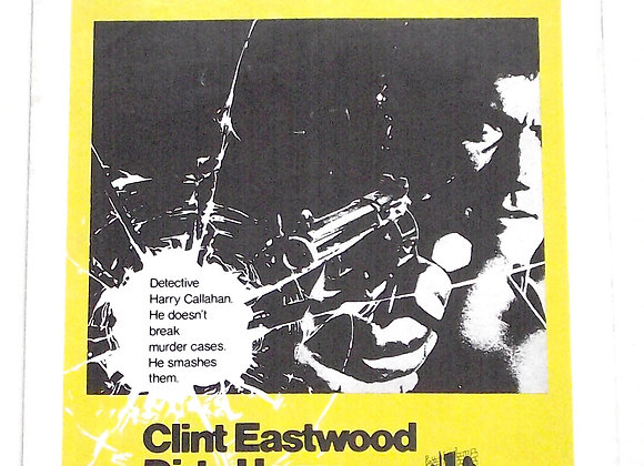 Clint Eastwood Dirty Harry Campaign Book 1971