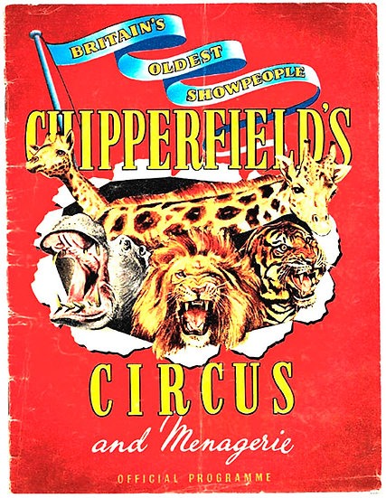 Chipperfield's Circus and Menagerie Programme circa 1960