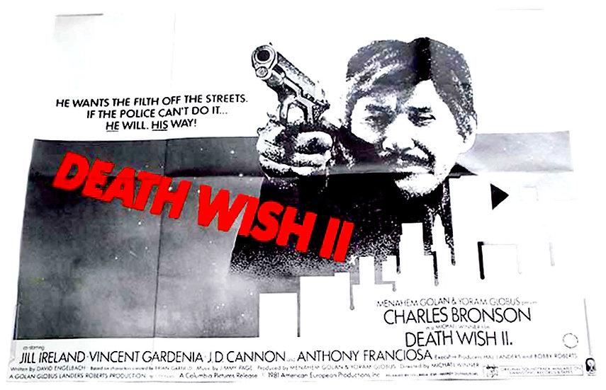 Death Wish 2 British Quad Film Poster 1982