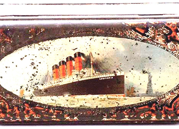 Huntley and Palmers Lusitania Ship 'Export'' Biscuit Tin 1908
