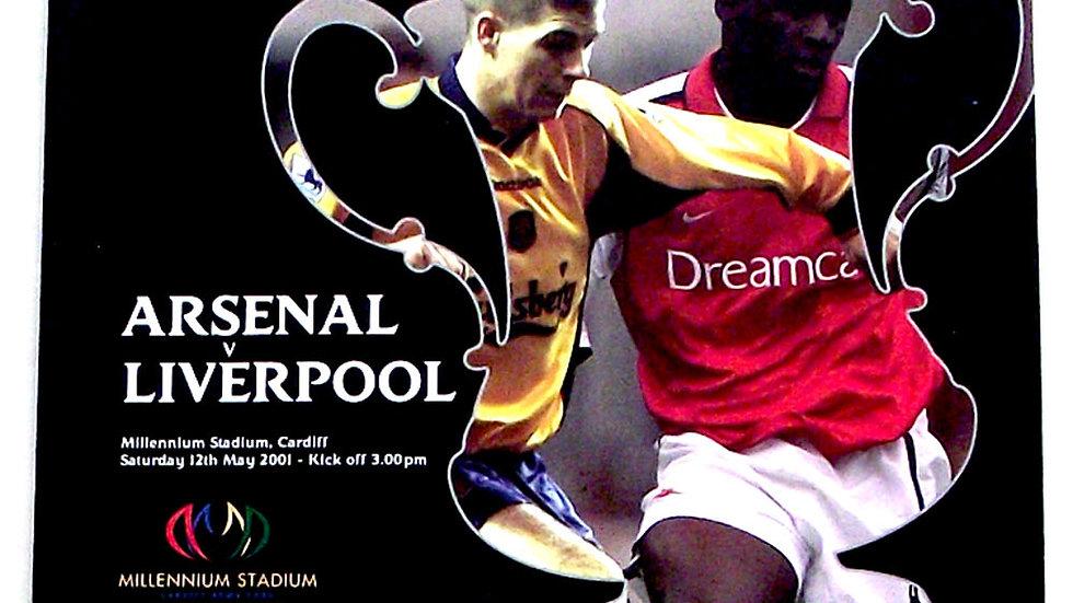 Arsenal F.C. v Liverpool F.C. FA Cup Final Football Programme 2001