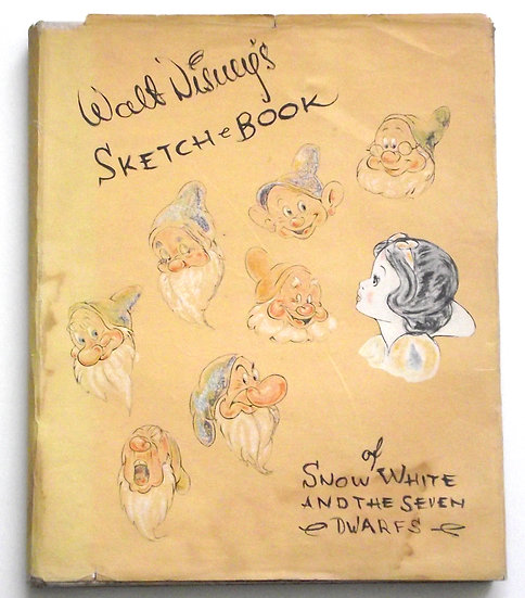 Walt Disney's Sketch Book of Snow White and the Seven Dwarfs First Edition 1938