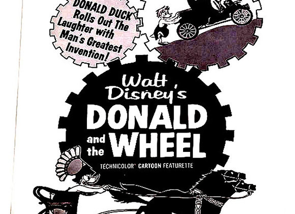Walt Disney Donald and the Wheel U.S. Press Book 1961