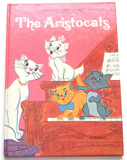 Walt Disney Production Presents The Aristocats First Edition Book 1971