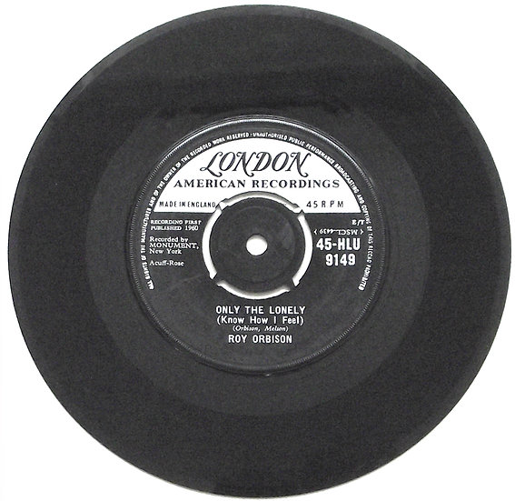 Roy Orbison Only The Lonely & Here Comes That Song Again Single 1960