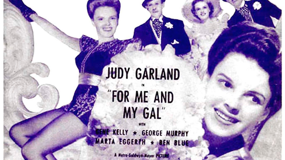 Judy Garland and Gene Kelly For Me and My Gal Film Sheet Music 1942