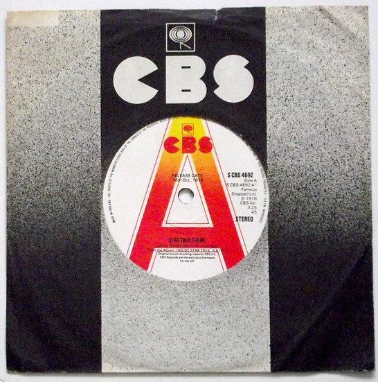 Star Trek Theme Soundtrack Promotion Single 1976