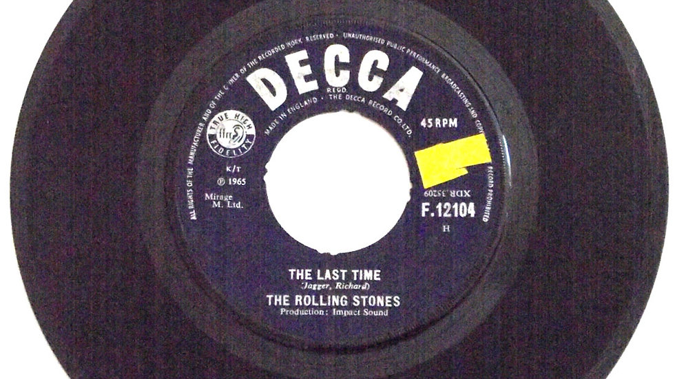 The Rolling Stones Single The Last Time & Play With Fire Decca F.12104 1965
