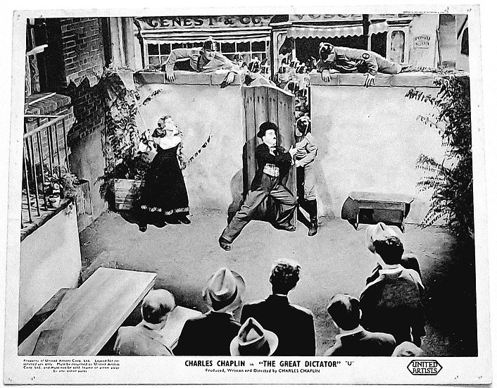 Charlie Chaplin The Great Dictator Window Cards 1940