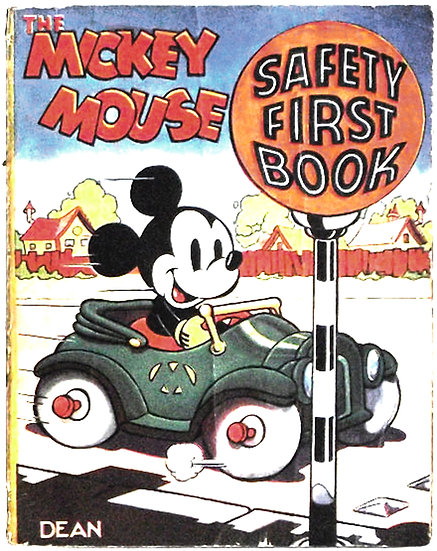 Walt Disney Mickey Mouse Safety First Book circa 1937
