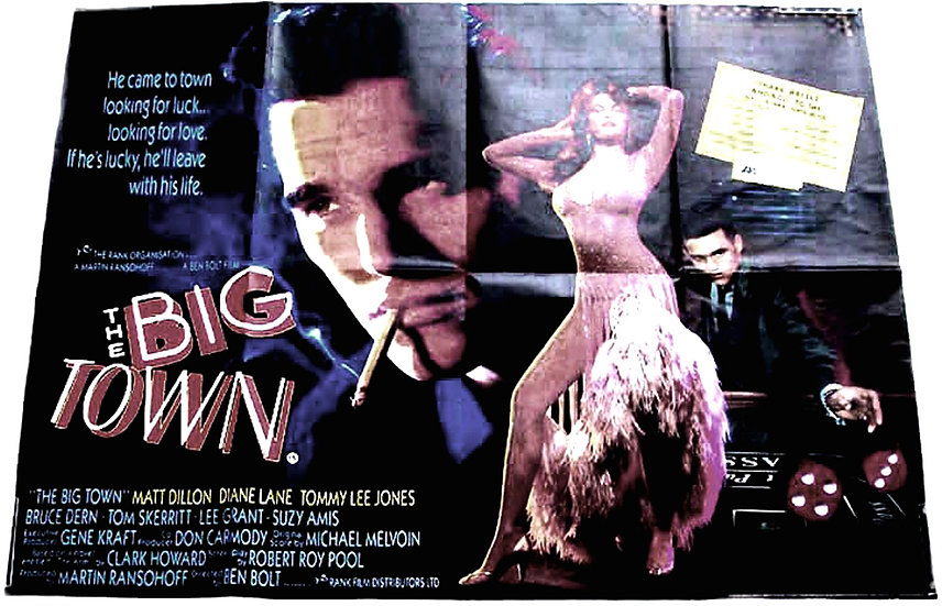The Big Town British Quad Film Poster 1987