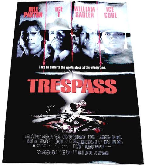 Ice-T Trespass British Quad Film Poster 1992