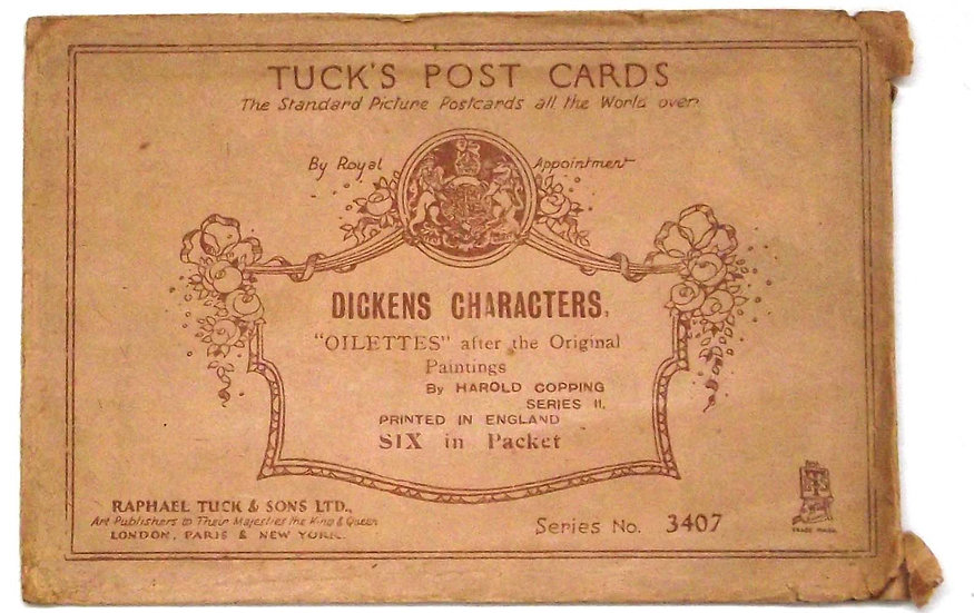 Charles Dickens The Pickwick Papers Postcards in Raphael Tuck Envelope
