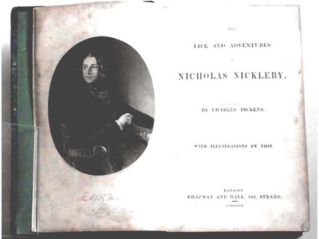 Charles Dickens Nicholas Nickleby First Edition In Book Form 1839 with Rare Additional Plates