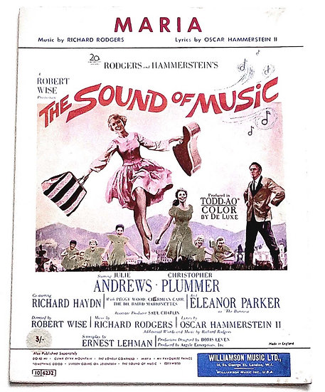 The Sound of Music Maria Film Sheet Music 1965