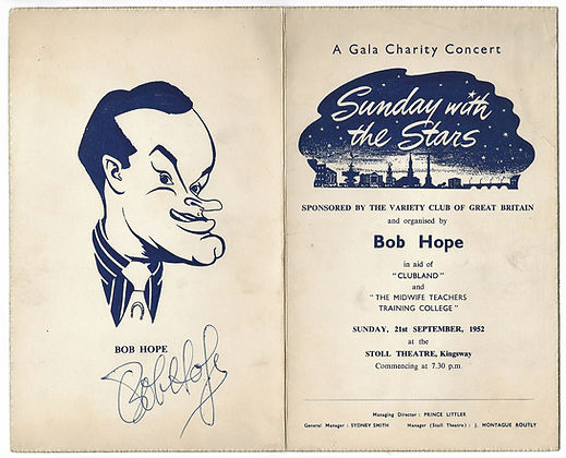 Bob Hope Autograph Sunday With The Stars