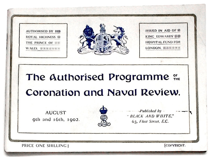 King Edward VII Coronation and Naval Review Programme 1902