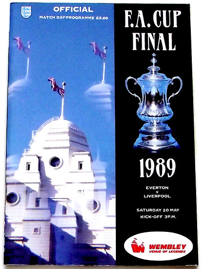 Everton F.C. v Liverpool F.C. FA Cup Final Football Programme 1989