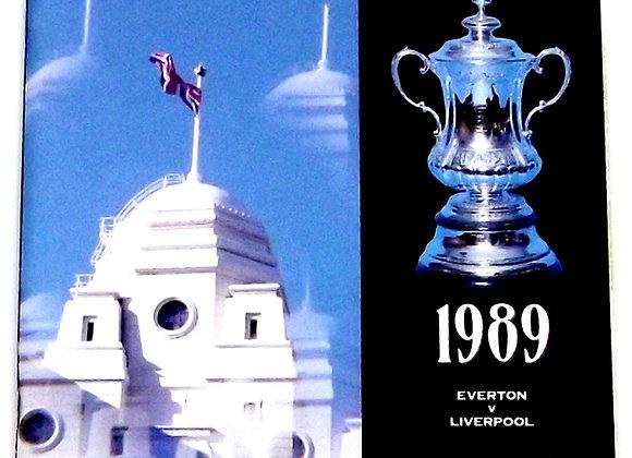 Everton F.C. v Liverpool F.C. FA Cup Final Football Programme 1989