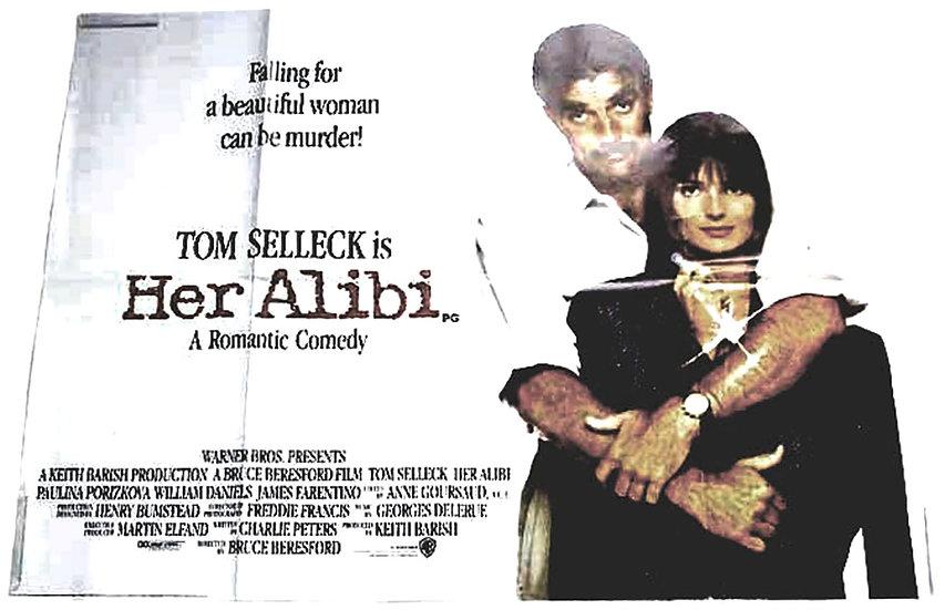 Her Alibi British Quad Film Poster 1989