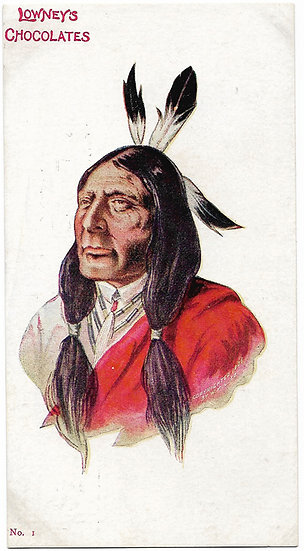 Lowney's Chocolates Native American Indian 2 Postcards