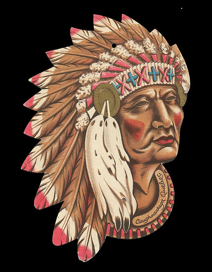 Head of An American Indian Chief by Maison Fondee