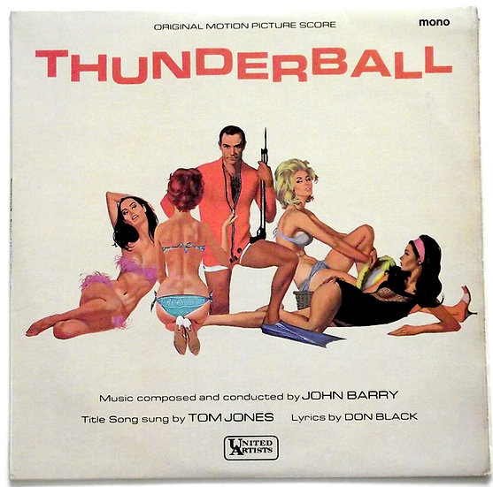 James Bond Thunderball Soundtrack Mono LP 1965