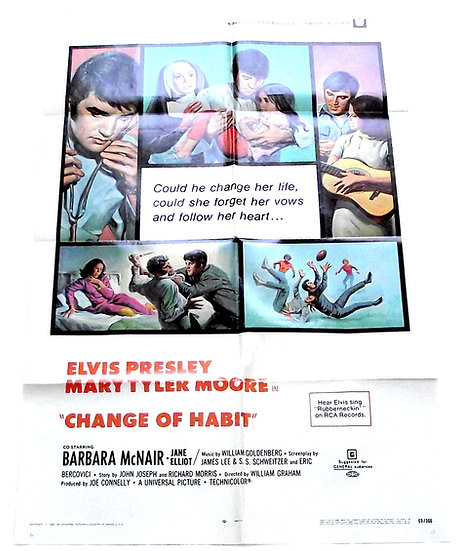Elvis Presley Change of Habit Film Poster 1969