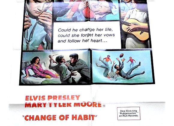 Elvis Presley Change of Habit Film Poster 1969