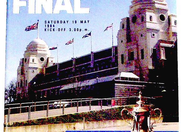 Everton F.C. v Watford F.C. FA Cup Final Football Programme 1984