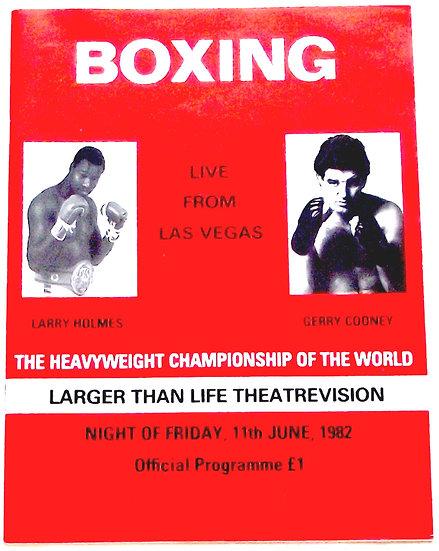 Larry Holmes v Gerry Cooney Boxing Programme 1982