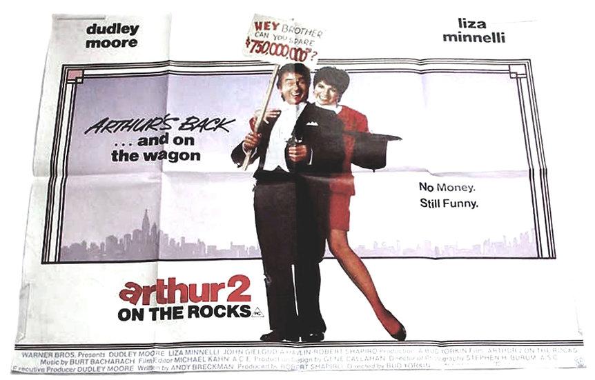 Arthur 2 On the Rocks British Quad Film Poster 1988
