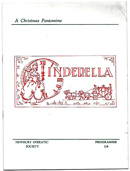 Cinderella Christmas Pantomime Theatre Programme Newbury Operatic Society 1969