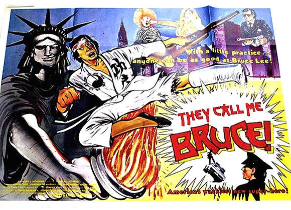 They Call Me Bruce British Quad Film Poster 1982