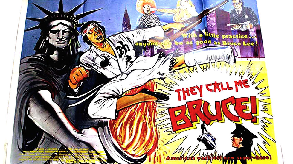 They Call Me Bruce British Quad Film Poster 1982
