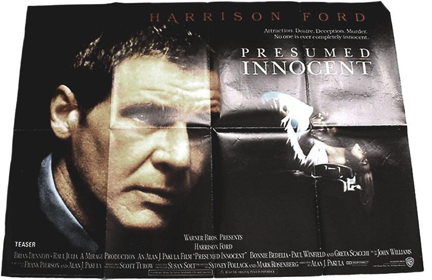 Presumed Innocent British Quad Film Poster 1990