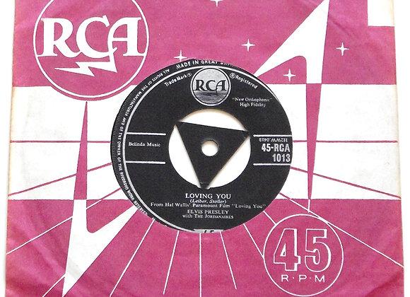 Elvis Presley Loving You UK Single 45-RCA 1013 1957
