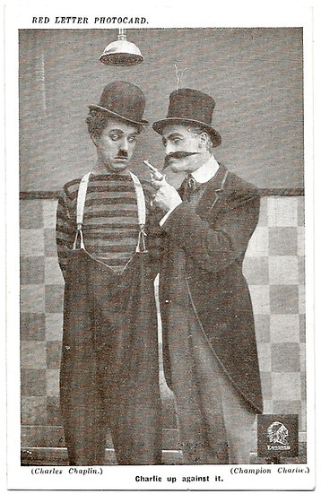 A Large Collection of 21 Charlie Chaplin Essanay Studios Postcards
