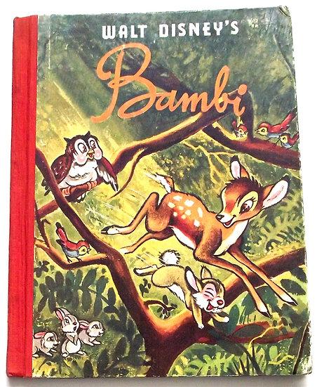 Walt Disney Bambi First Edition Book circa 1949