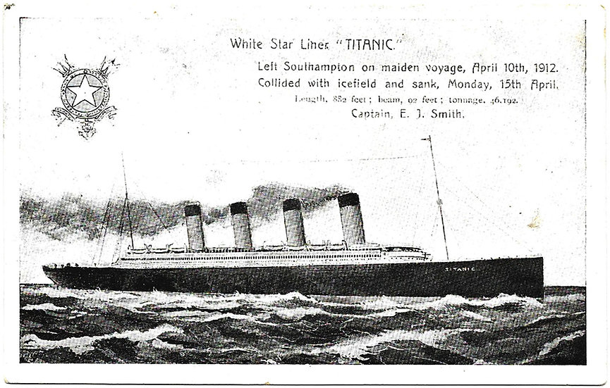 Titanic Postcard White Star National Series