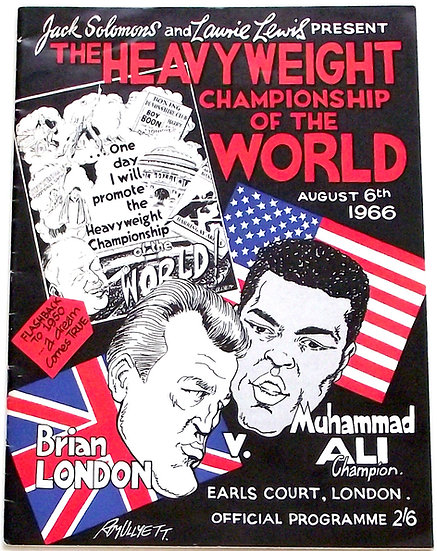 Brian London v Muhammad Ali Boxing Programme 1966